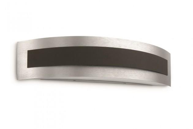 Palermo - Nástenné osvetlenie E27, 40,1cm (šedá, čierna)