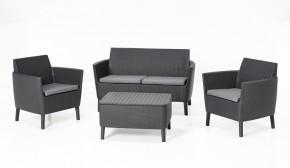 Palermo - Záhradná sedacia súprava (grafit/sivá)
