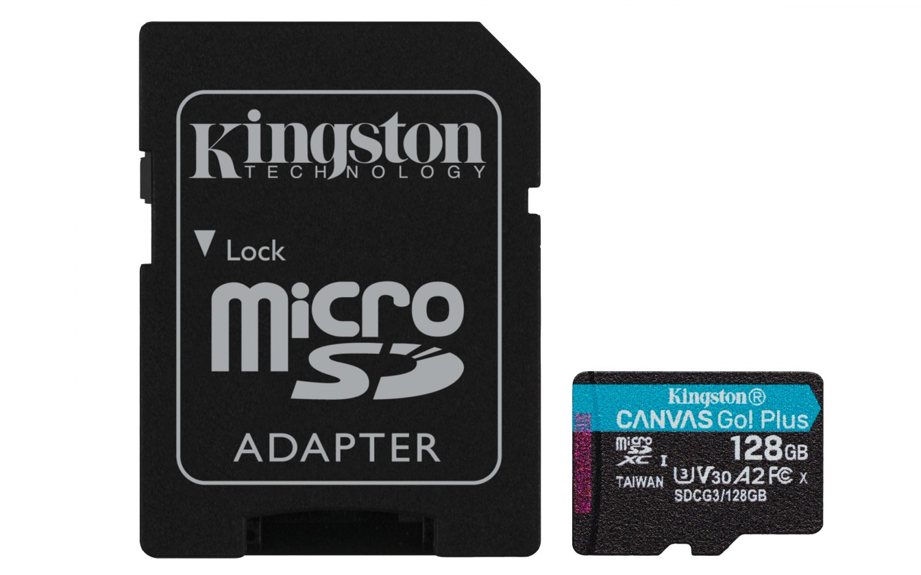 Pamäťové karty 128 GB Micro SDXC karta Kingston 128GB (SDCG3/128GB)