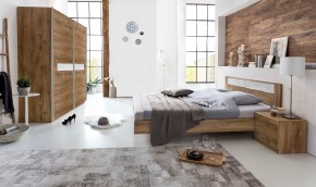 Pamela - Komplet posteľ 180,skříň 225cm,stolíky (tmavý dub)