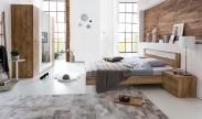 Pamela - Komplet posteľ 180,skříň klasik,stolíky (tmavý dub)