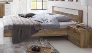 Pamela - Komplet,posteľ 180x200cm,nočné stolíky (tmavý dub)
