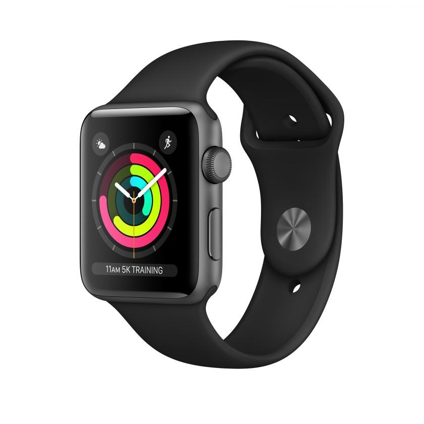 Pánske smart hodinky Apple Watch Series 3 GPS, 42mm, sivá, športový remienok
