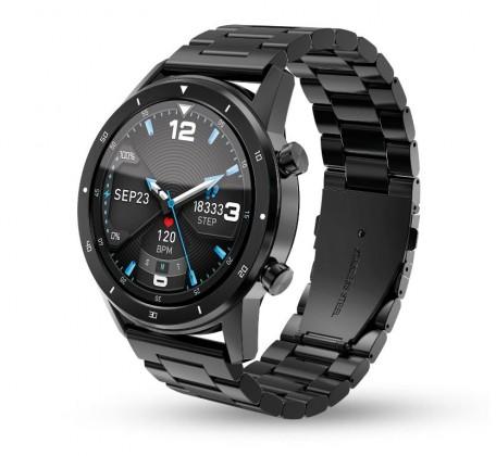 Pánske smart hodinky Smart hodinky Aligator Watch Pro, 3x remienok, čierna