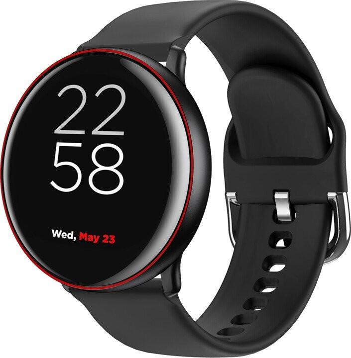 """Pánske smart hodinky Smart hodinky Canyon Marzipan 1,22"""", 2 remienky, čierna/červená"""