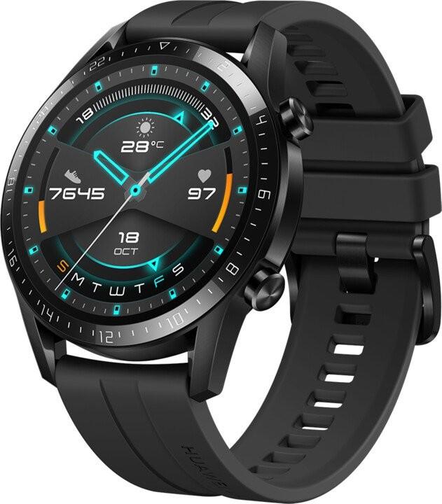 Pánske smart hodinky Smart hodinky Huawei Watch GT2, čierna