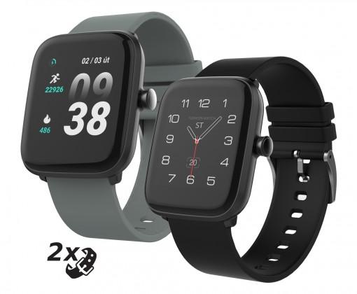 Pánske smart hodinky Smart hodinky iGET Fit F25, 2x remienok, čierne