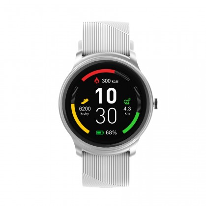 Pánske smart hodinky Smart hodinky iGET Fit F6, 2 remienky, strieborná