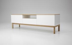 Patch - TV stolík, 2273-454 (dub/biela/dub)