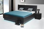 Patria 6 - posteľ 200x180, úložný priestor, výklopný polohovateľný rošt, LED podsvietenie
