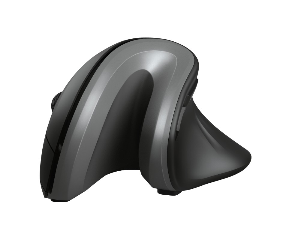 PC doplnky, kancelária zlacnené Vertikálna bezdrôtová myš Trust Verro, dosah 10 m, čierna POUŽITÉ