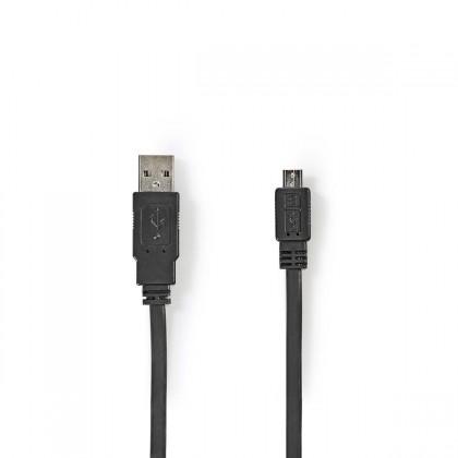 PC káble Kábel Nedis Micro USB na USB, 1m, čierna