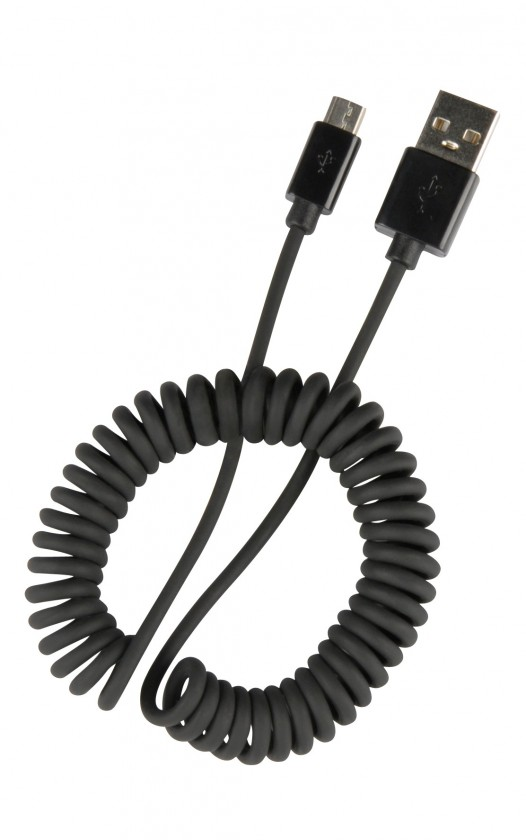 PC káble  SpeedLink PECOS SPIRAL Micro USB Charging Cable, black