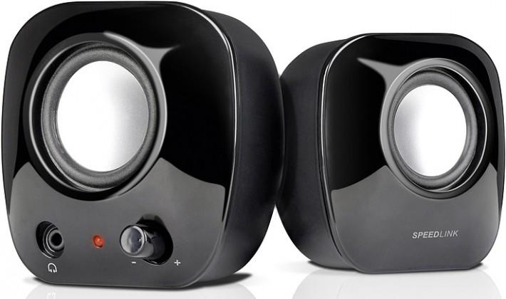 PC reproduktor  SNAPPY Stereo Speakers SL8003SBK, black