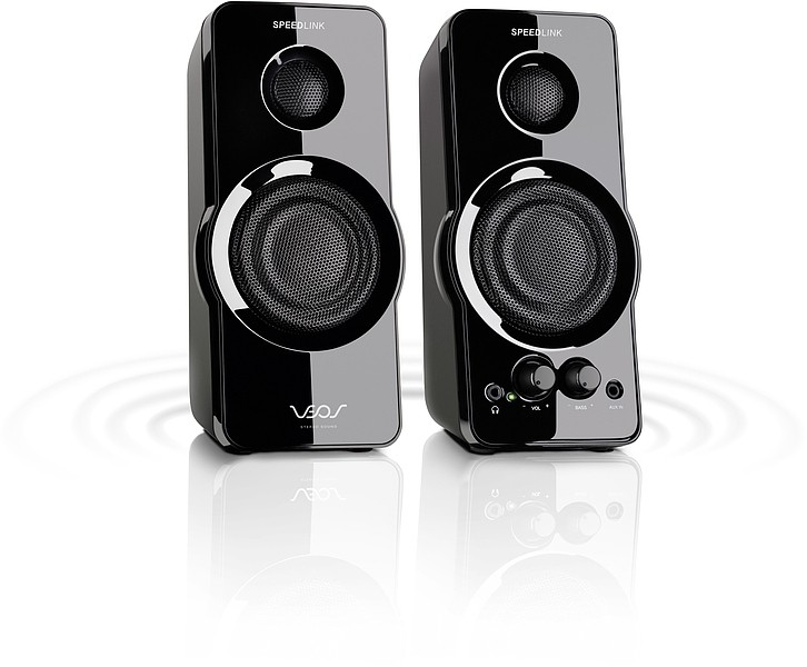 PC reproduktor  VEOS Stereo Speakers SL8120SBK, black