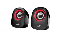 PC reproduktory Genius SP-Q160 Red, 2.0, 6 W, čierno-červené