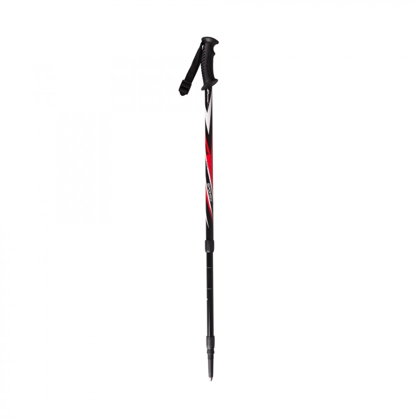 Peak - Trekingové palice (čierna, červená, biela)
