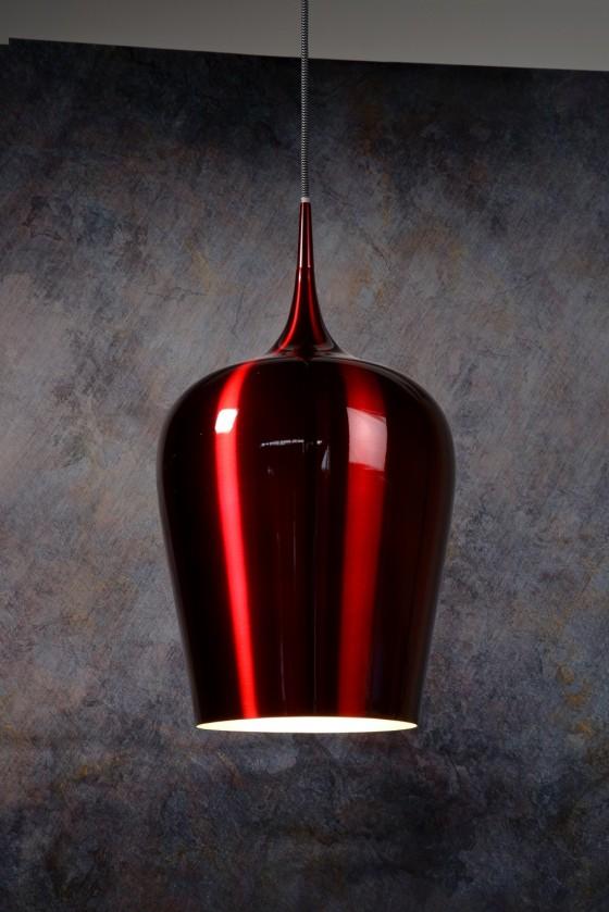 Petra - stropné osvetlenie, 60W, E27 (červená)