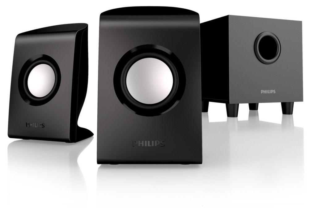 Philips SPA1330 multimediální reproduktory 2.1, 30W, černé