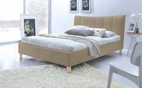 Phily - Posteľ 200x160, rám postele, rošt (béžová/nôžky buk)