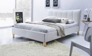 Phily - Posteľ 200x160, rám postele, rošt (biela/nôžky buk)