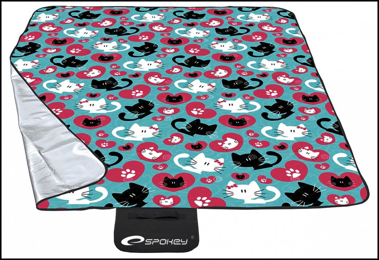 Picnic cats - Piknik deka (petrol, bordó, biela, čierna)