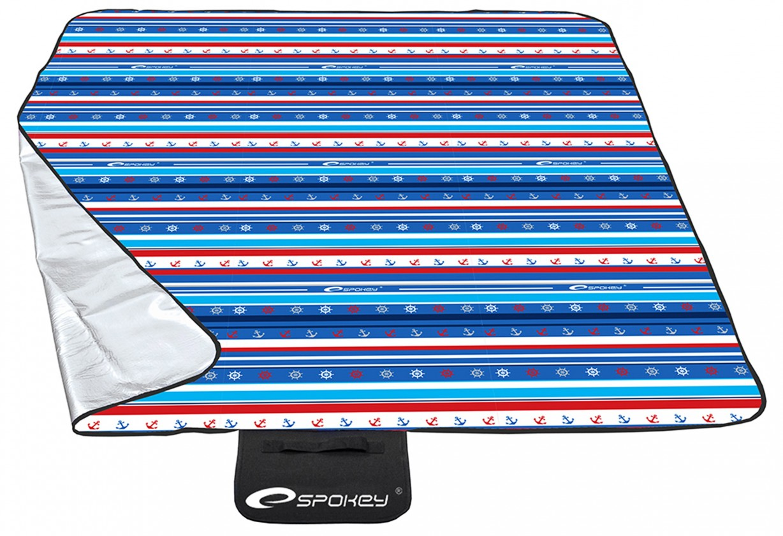 Picnic marine - Piknik deka 180x210 cm (modrá, červená, biela)