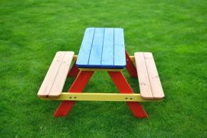 Piknik - Detská súprava (červená, modrá, žltá)