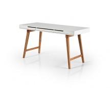Písací stôl Agape (biela, buk)