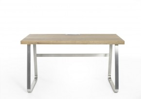 Písací stôl Alegro (dub, strieborná)