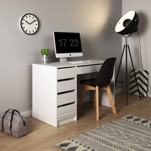 Písací stôl Dagun (biela)