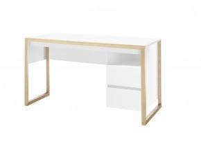 Písací stôl Elon (biela, dub)