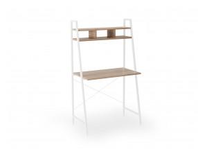 Písací stôl Jerico (84x142x46 cm, dub sonoma, biela)