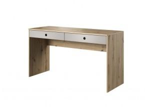 Písací stôl Kenny (dub, sivá)