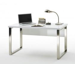 Písací stôl Langres (biela, strieborná)