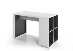 Písací stôl Naos (biela, antracit)