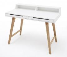 Písací stôl Rolef (biela, buk)