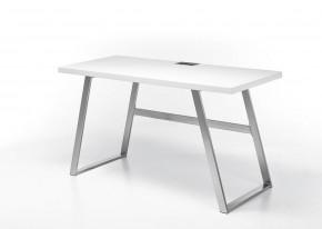 Písací stôl Salvia (biela, strieborná)