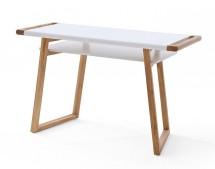 Písací stôl Taron (biela, dub)