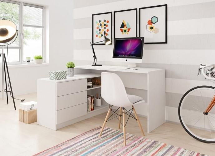 Písací stôl Tungo (biela)