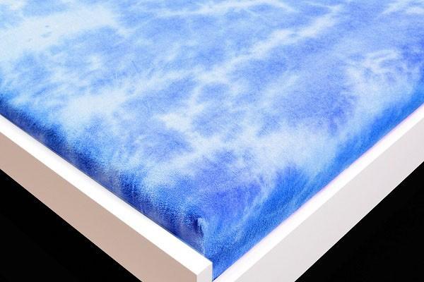 Plachta Froté, batikovania, 90x200 (modré)