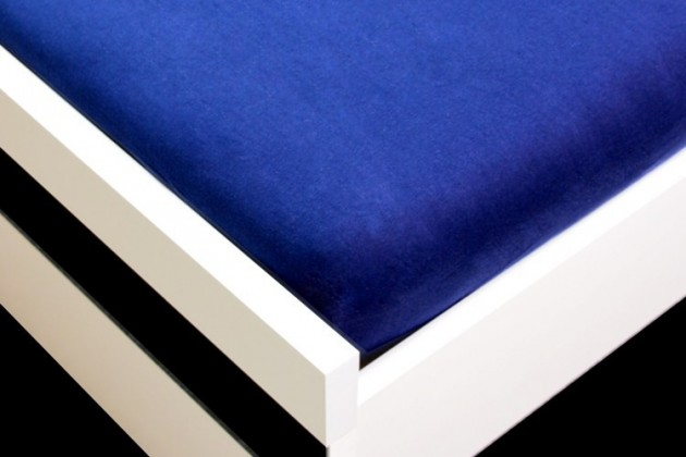 Plachta Jersey, 90x200 (tmavo modré)
