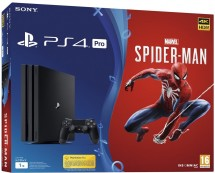 PlayStation 4 Pro, 1TB, černá + Spider-Man PS719406570