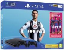 PlayStation 4 Slim,1TB,černá+FIFA 19+DualShock 4 v2,PS719752110