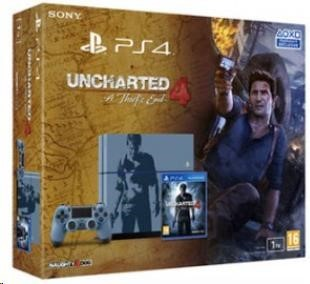 PlayStation 4 SONY PlayStation 4 - 1TB, čierny + Uncharted 4: A Thief's End