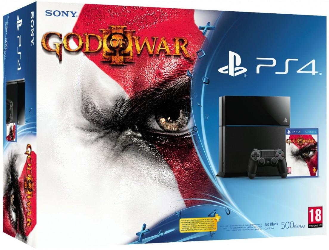 PlayStation 4 SONY PlayStation 4 - 500GB, čierny + God of War 3