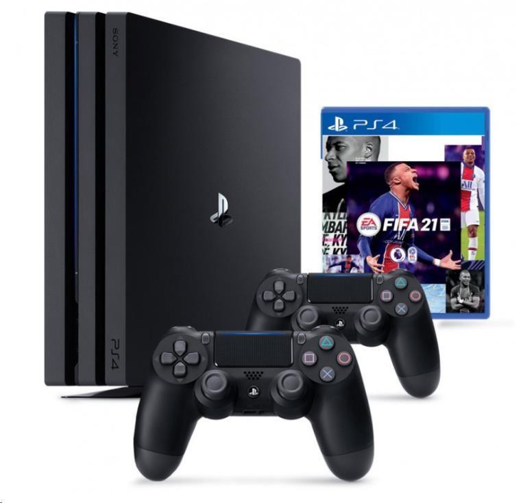 PlayStation 4 SONY PlayStation 4 Pro 1TB - čierny + FIFA21 + 2x DualShock