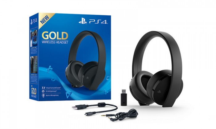 PlayStation 4 SONY PS4 Gold Wireless Headset, čierna
