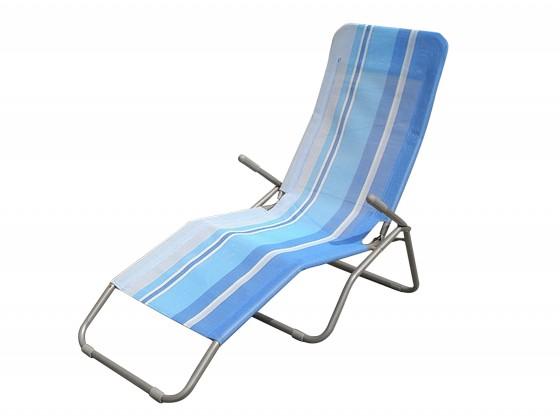 Plážové ležadlo (modrý pruh)