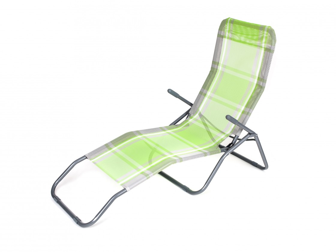 Plážové ležadlo (zelená kocka)
